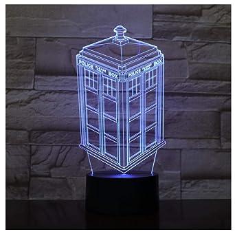 Luz De Noche Caja De Llamada 3D Lámpara 3D Luz De Noche Niños Niño ...