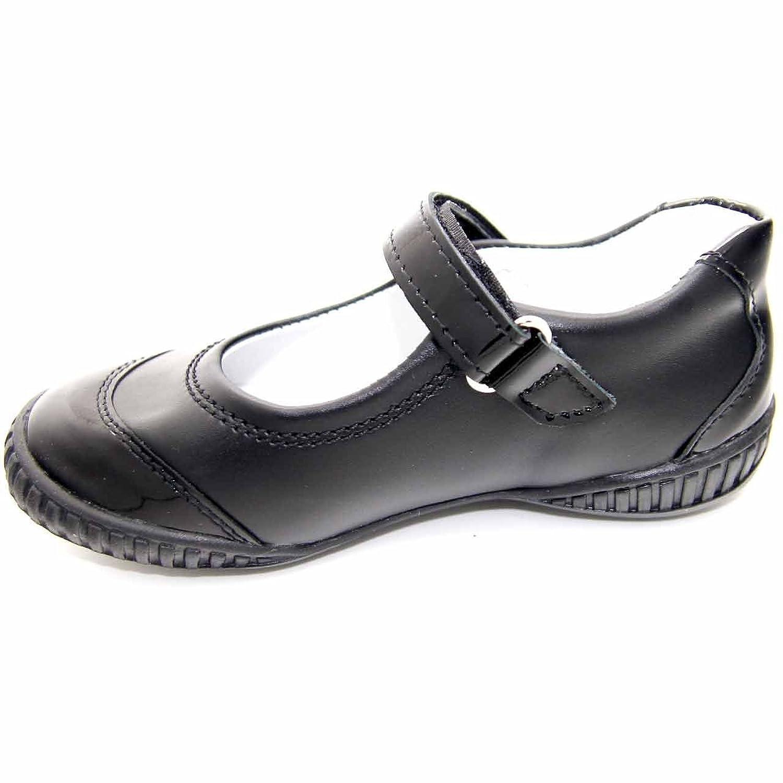 Footica Princess Sofia - Girls Black Leather School Shoes (3): Amazon.co.uk:  Shoes & Bags