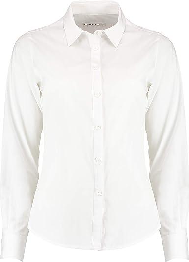 KUSTOM KIT - Camisa de popelín y Manga Larga para Mujer ...