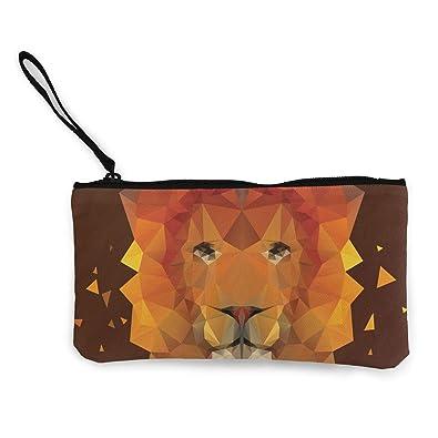 dade5d7e729 Amazon.com: Lion (2) Women's Travel Makeup Bags Canvas Coin Purse ...