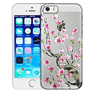 Apple iPhone 5 Case, Slim Fit Snap On Cover by Trek Cherry Blossoms Clear Case