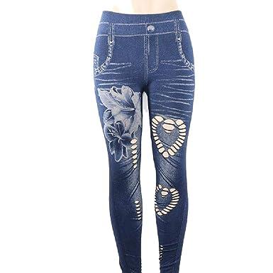 Amazon.com: Mywine - Pantalones vaqueros sin costuras para ...