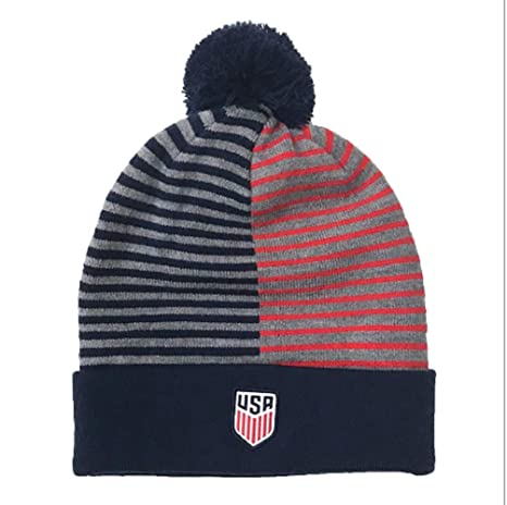 new concept 54d83 ab7bf Image Unavailable. Image not available for. Color  NIKE USA Stripe Knit  Beanie ...