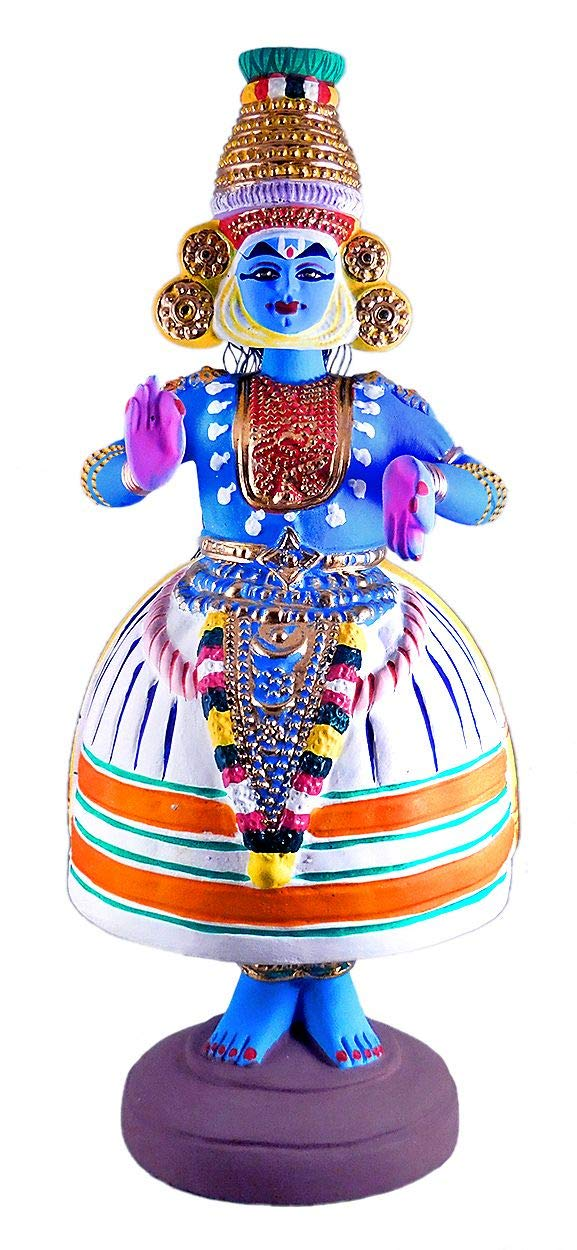 DollsofIndia Kathakali Dancing Doll - Papier Mache - Dia - 7 inches and Height - 17 inches (SG73)