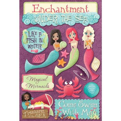 (KAREN FOSTER Design Acid and Lignin Free Scrapbooking Sticker Sheet, Magical Mermaids)