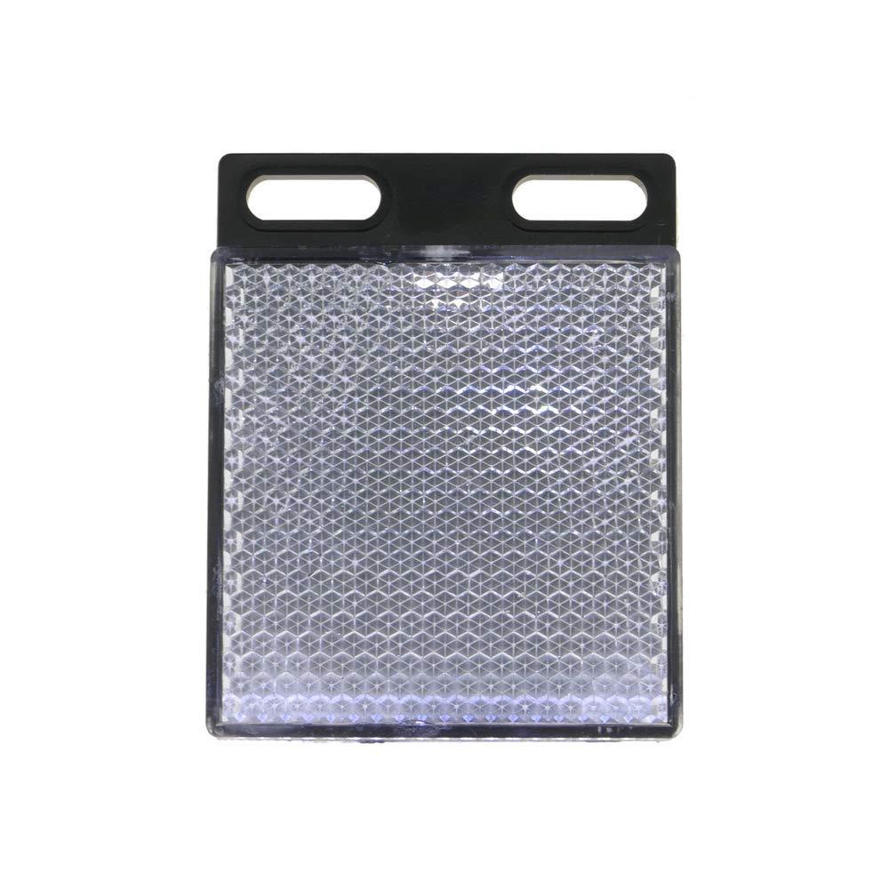 Specchio riflettore catadiottrico rettangolare per fotocellula fotoelettrico 47x47mm BeMatik