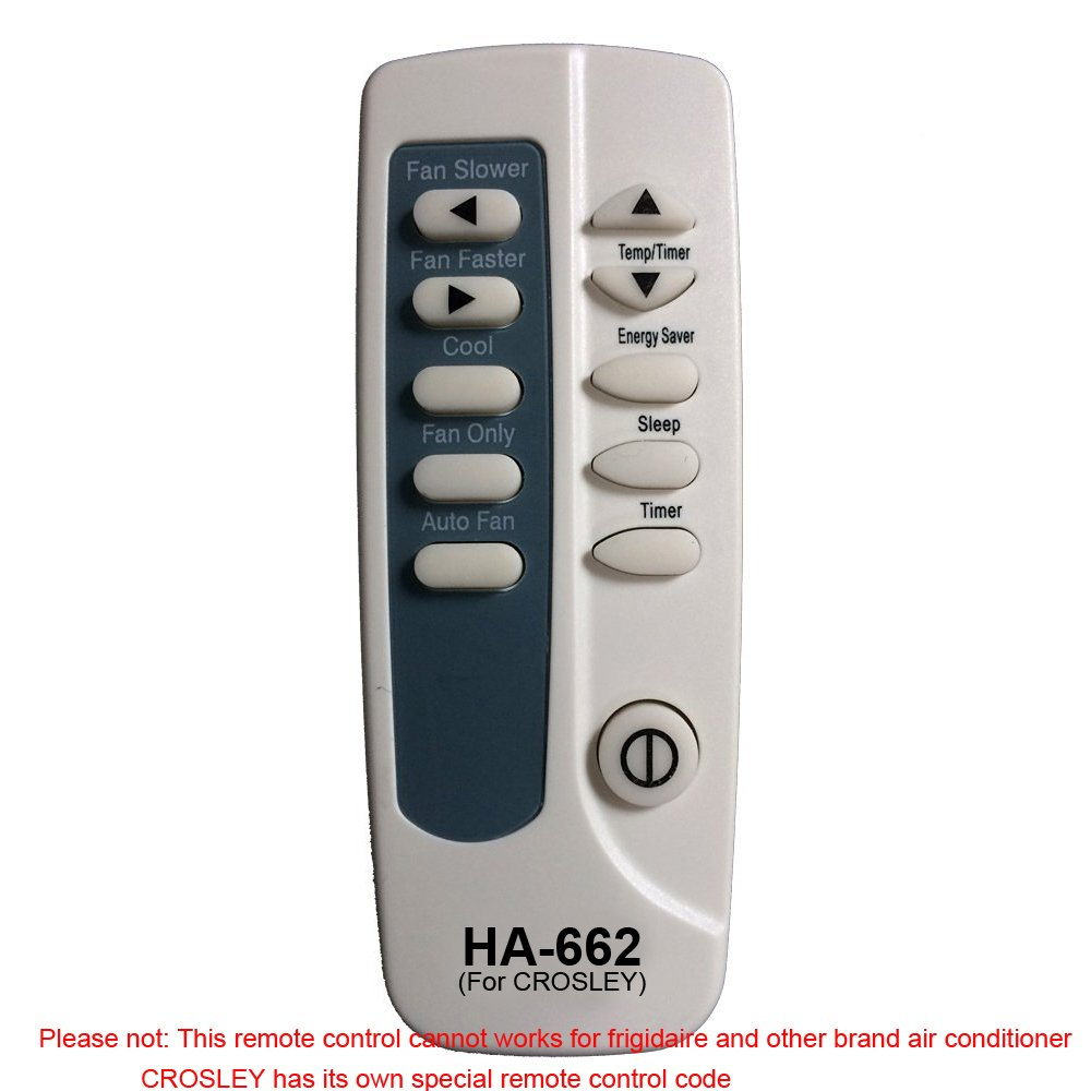 HA-662 Replaces Crosley Air Conditioner Remote Control 5304472230 5304482751 works for CAW12EHQ22 CAW12EHQ23 CAW12EHQ24 CAW12EHQ25 CAWE11ER-R410A