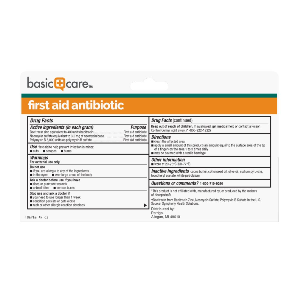 Amazon Com Basic Care First Aid Antibiotic Ointment 2 Ounce