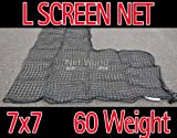 Baseball 7 x 7 Replacement L-Screen Net 36'' x 36'' Cut Out #60 (SUPER HEAVY DUTY) [Net World Sports]