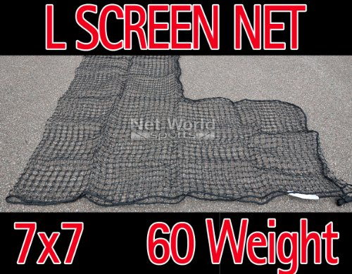 Baseball 7 x 7 Replacement L-Screen Net 36'' x 36'' Cut Out #60 (SUPER HEAVY DUTY) [Net World Sports] by Net World Sports