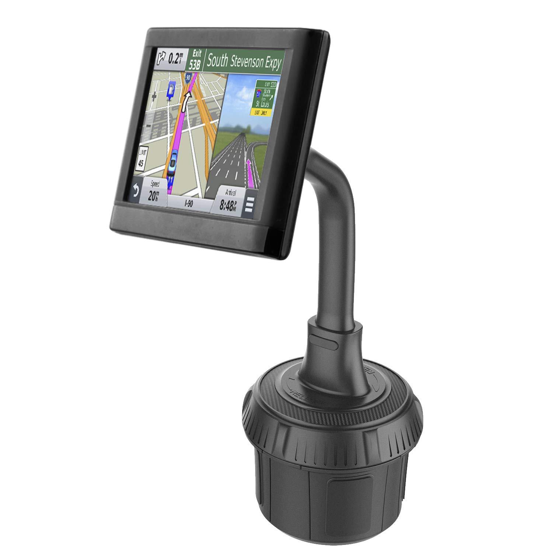 GPS Car Mount Cup Holder with Adjustable Gooseneck Arm for Garmin - 1Zero Replacement GPS Cupholder Mount for Garmin Nuvi Dezl Drive Drivesmart Zumo Driveassist DriveLuxe RV Portable Navigator