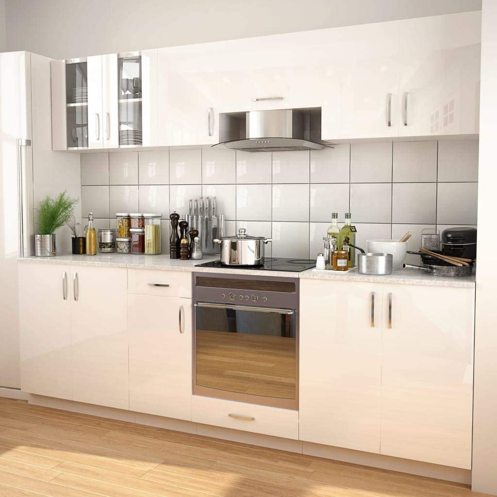 vidaXL - Juego de Utensilios de Cocina (8 Piezas) Campana extractora Blanca para Cocina empotrable: Amazon.es: Juguetes y juegos