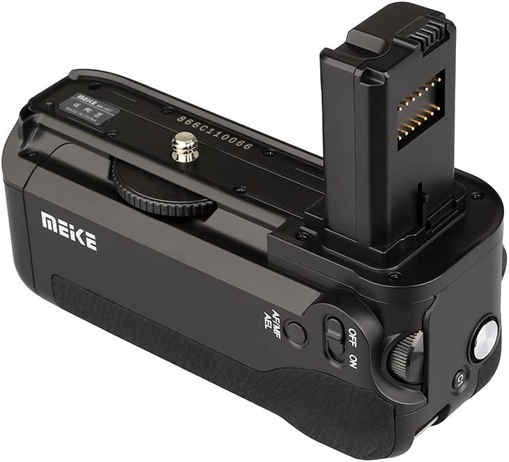 Meike MK-A7 Vertical Battery Grip Pack Compatible for Sony A7 A7r A7s as VG-C1EM Camera
