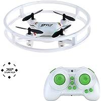 Kingtoys Nano Drone Espacio Trek UFO RC Quadcopter 2.4GHz 4 ejes Gyro RC Aviones de Protección de Bull barras Mini helicóptero Para principiantes / niños con la luz del flash del tirón 3D