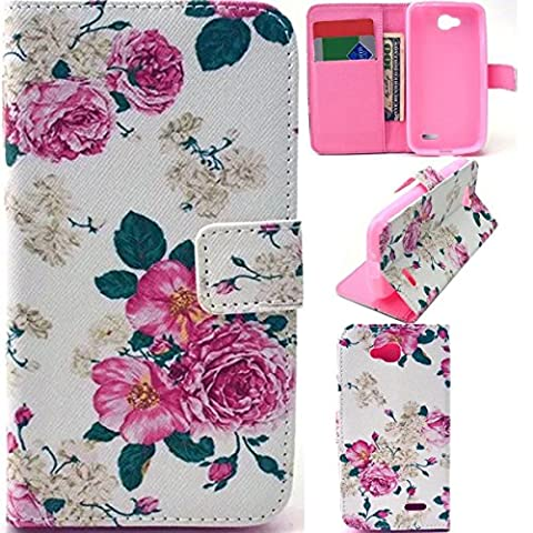 LG L90 Case,LG L90 leather Case,LG L90 Wallet Case,WGOOD LG Optimus L90 D415 Leather Case,Wallet Leather Case Cover With Credit Card Slots And Stand Function for LG Optimus L90 D415-Pattern (Lg D415 Phone Case For Girls)