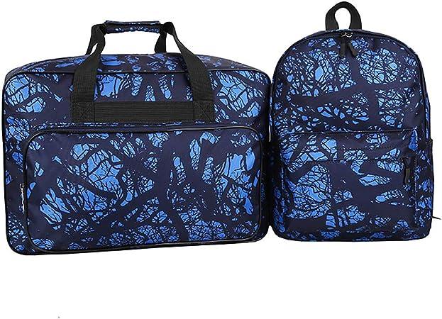 Bolsa de máquina de coser, Mochila informal, Mochila de viaje Máquina de coser Bolsa de transporte Bolsillo frontal con cremallera, Bolsillos laterales de botella: Amazon.es: Hogar