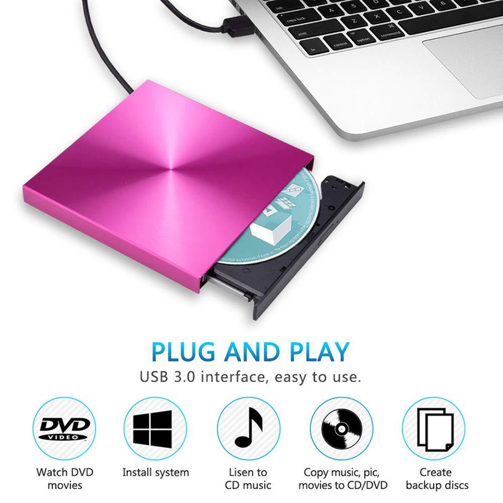 Amazon.com: USB3.0 - Grabador de DVD externo con lector de ...