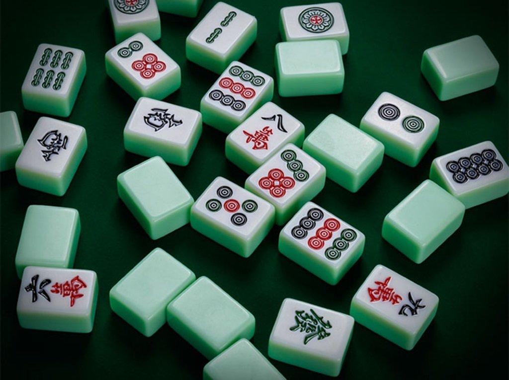 LI JING SHOP - Emerald Color Gradient Großes Dickes Mahjong, Haus Hand Reiben Mahjong Exquisite Aluminium Box Installierte Größe: 3.8 * 3.0 * 2.0CM, 4.0 * 3.1 * 2.1CM, 4.2 * 3.2 * 2.2CM, 4.4 * 3.3 * 2.3CM ( größe : 40# )