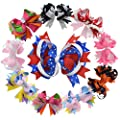 5 Inch Multi Stacked Giant Bow with Alligator Hair Clip for Girls Juniors 10PCS