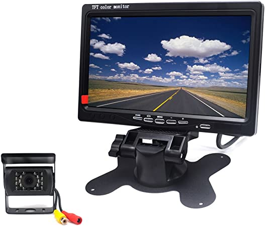 Padarsey 12V 24V Vehicle Backup Camera System Rear View Camera Support Night Vision Waterpoof & 7