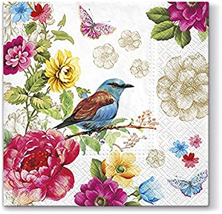 """33x33cm 3ply Decoupage /""""In My Garden/"""" Pack of 20 paper napkins"""