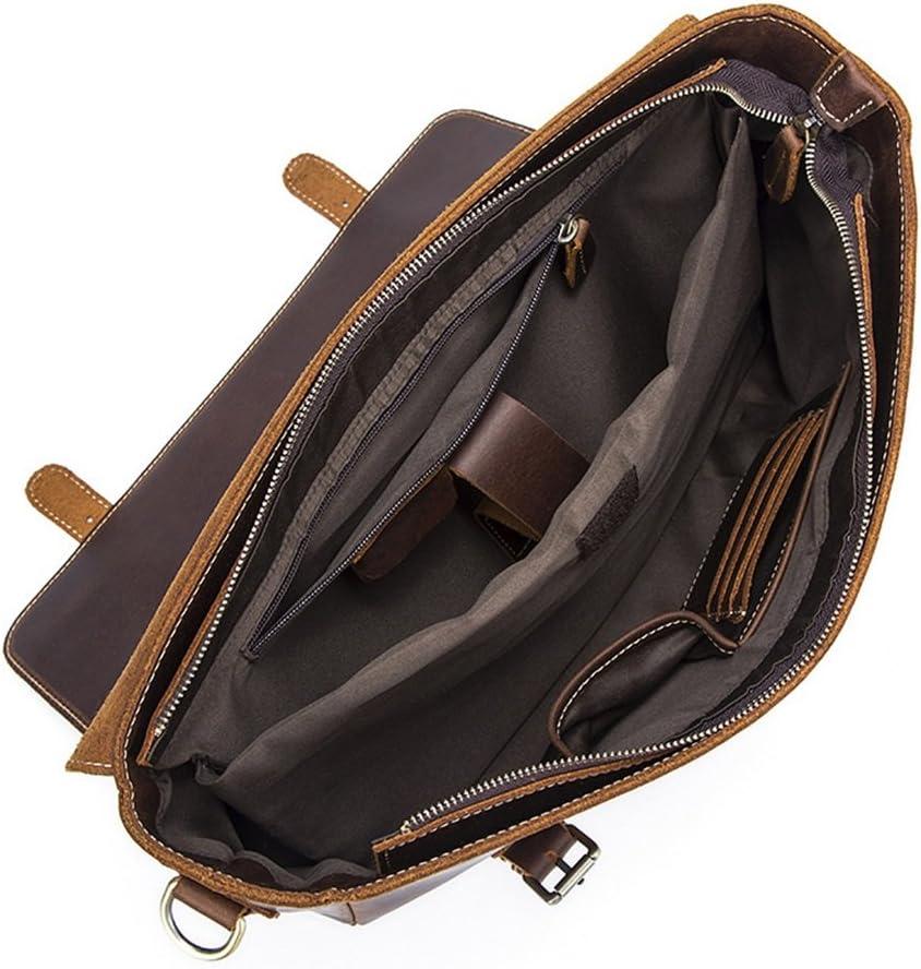DQMSB Briefcase Mens Tide Bag Fashion Retro Mobile Messenger Bag Mens Shoulder Bag