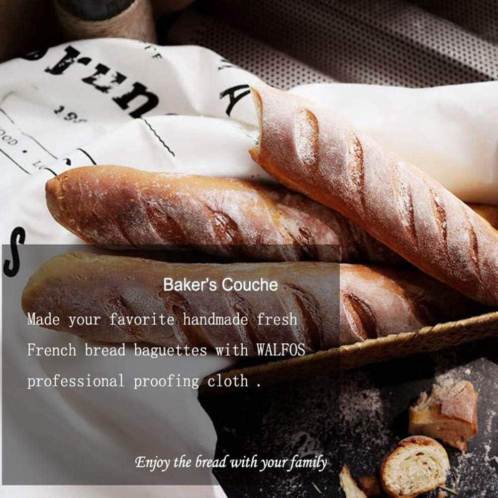 120X75CM B/äckerleinen f/ür Baguette Nat/ürliche Baumwollbrottuch Brot Fermentierte Matte Backwerkzeuge Professionelles G/ärtuch SayHia Geb/äckschutztuch Gegorener Leinentuch