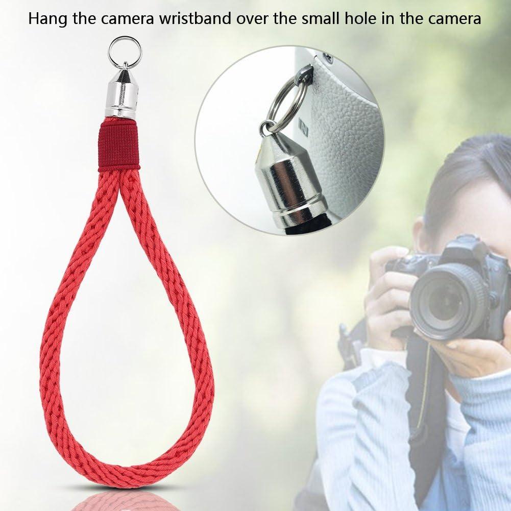 Soft Cotton Camera Hand Wrist Strap with Braided Design and Metal Hook for G7 GX7 A5000 AS100 A6000 A6300 X2 Q M9 M8 Acouto Camera Wrist Strap Black