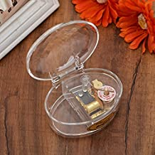 YouTang(TM) Oval Creative Transparent Acrylic 18-note Wind-up Musical Box,Musical Toys,Tune:Frozen Let it Go,Clear