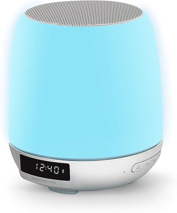 Energy Sistem Clock Speaker 3 Light Altavoz portátil con Bluetooth (Dual Alarm, 8 W, Wake-Up Light, FM Radio, Bluetooth, Line-In, Touch Control): Amazon.es: Electrónica