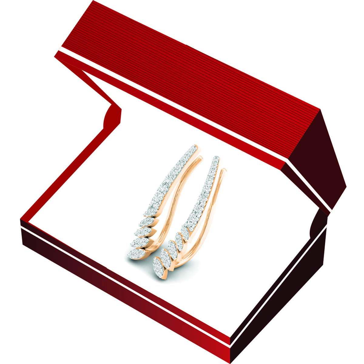 0.30 Carat ctw 10K Gold Round White Diamond Ladies Climber Earrings 1//3 CT Yellow Gold Dazzlingrock Collection K4303-10KY