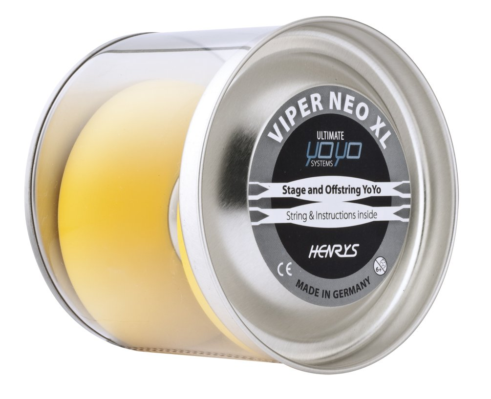Amazon.com : Henrys VIPER NEO XL Professional Large YoYo - Fast Spinning Bearing Axle + Yo Yo Book Of Tricks + Kid YoYo DVD + Travel Bag!