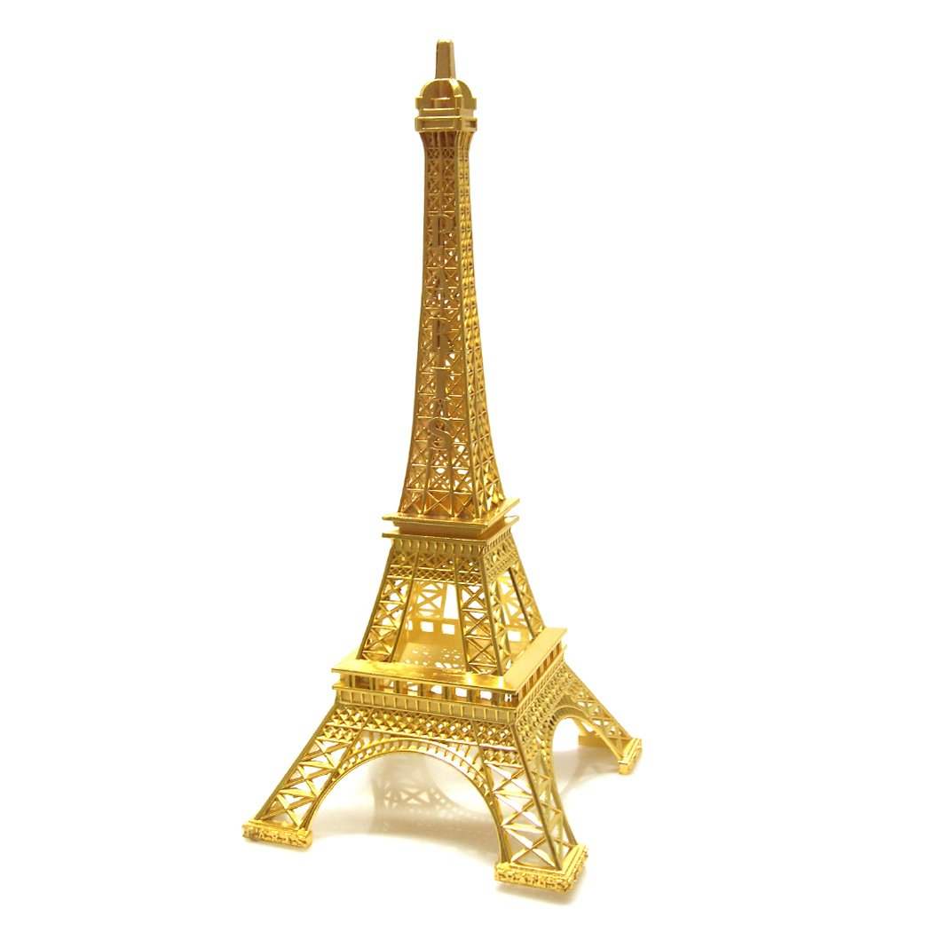 Firefly Imports Eiffel Tower Paris France Stand, 15-Inch Tall, Gold