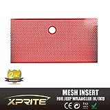 Xprite Red Stainless Steel Mesh Insert For Jeep Wrangler JK JKU 2007-2017 Original Front Hood Matte Grill Grille Grid