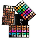 120 Farben Lidschatten Palette, AMBITO Augenpalette Makeup Lidschattenpalette Professionelles Makeup Set Schimmert und Matt Hautfarben Eye Shadow Palette