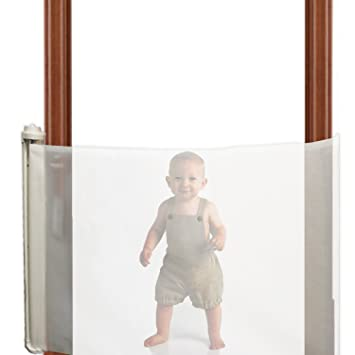 Small Tires And Wheels Extra Wide Locking Retractable Child Safety Gate For  Doorways Hallways Stairs