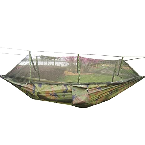 camping hammock rusee mosquito   outdoor hammock travel bed lightweight parachute fabric double hammock for amazon    camping hammock rusee mosquito   outdoor hammock      rh   amazon