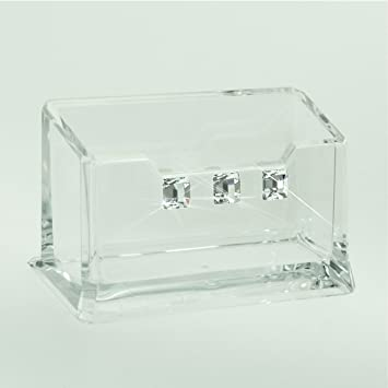 Lucite acrylic business card holder perspex embellished with lucite acrylic business card holder perspex embellished with crystals from swarovski colourmoves