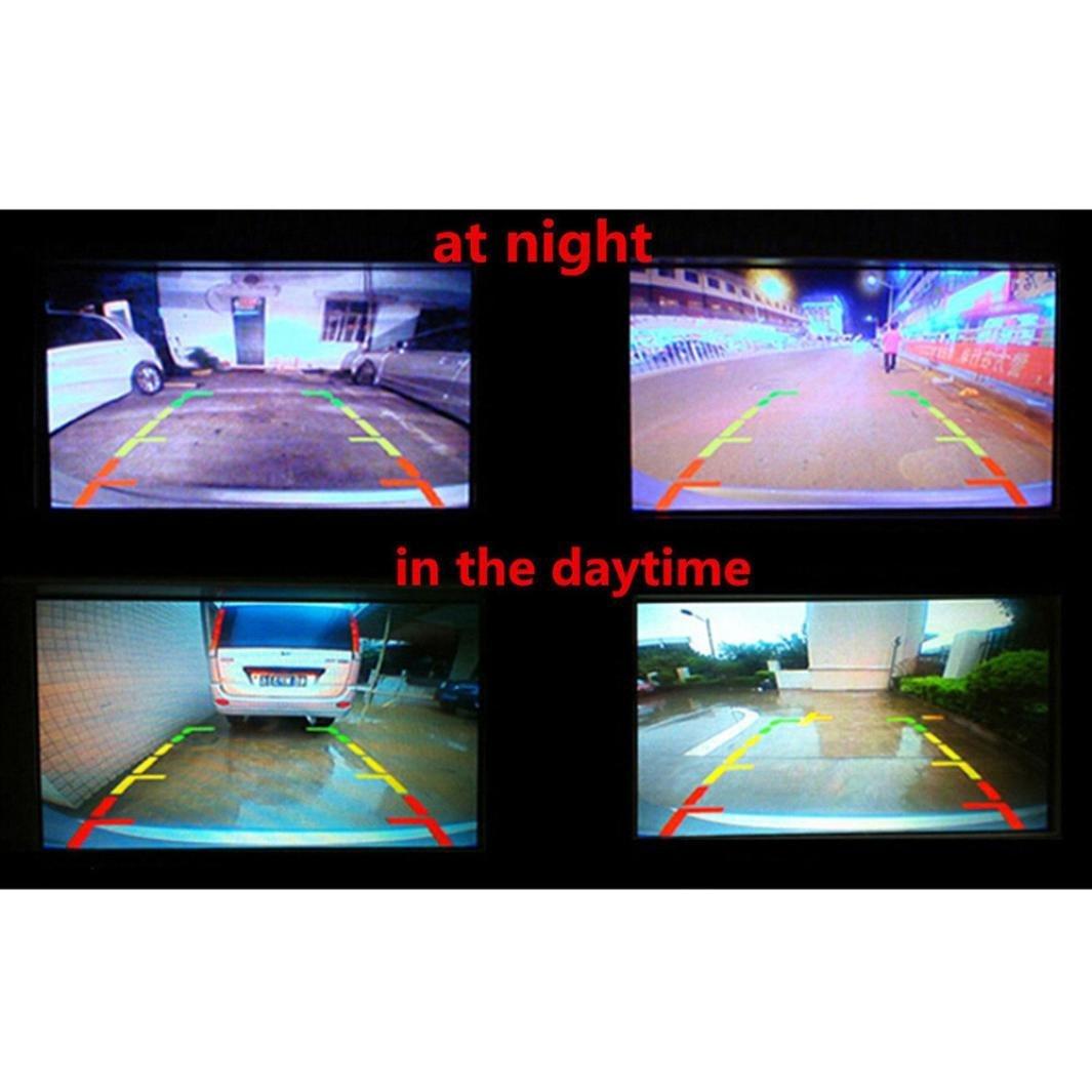 Quaanti New Arrival 170 Degree CMOS Waterproof Night Vision Car Rear View Reverse Backup Parking Camera HD (Black) by Quaanti (Image #7)