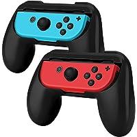 Hand Grips para Nintendo Switch Joy-Con Alomia, Nuevas fundas para Joy Con. Empuñaduras para mandos Joy-con, Diseño Ergonómico. Juego de manijas para controles. Color Negro