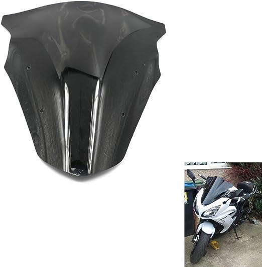Amazon.com: Alpha Rider para motocicleta negro parabrisas ...