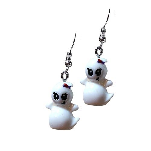 Cute Ghost Earrings  Ghost Studs  Halloween Earrings  Halloween Jewelry  Kawaii Ghost  White GhostKawaii Halloween Gift