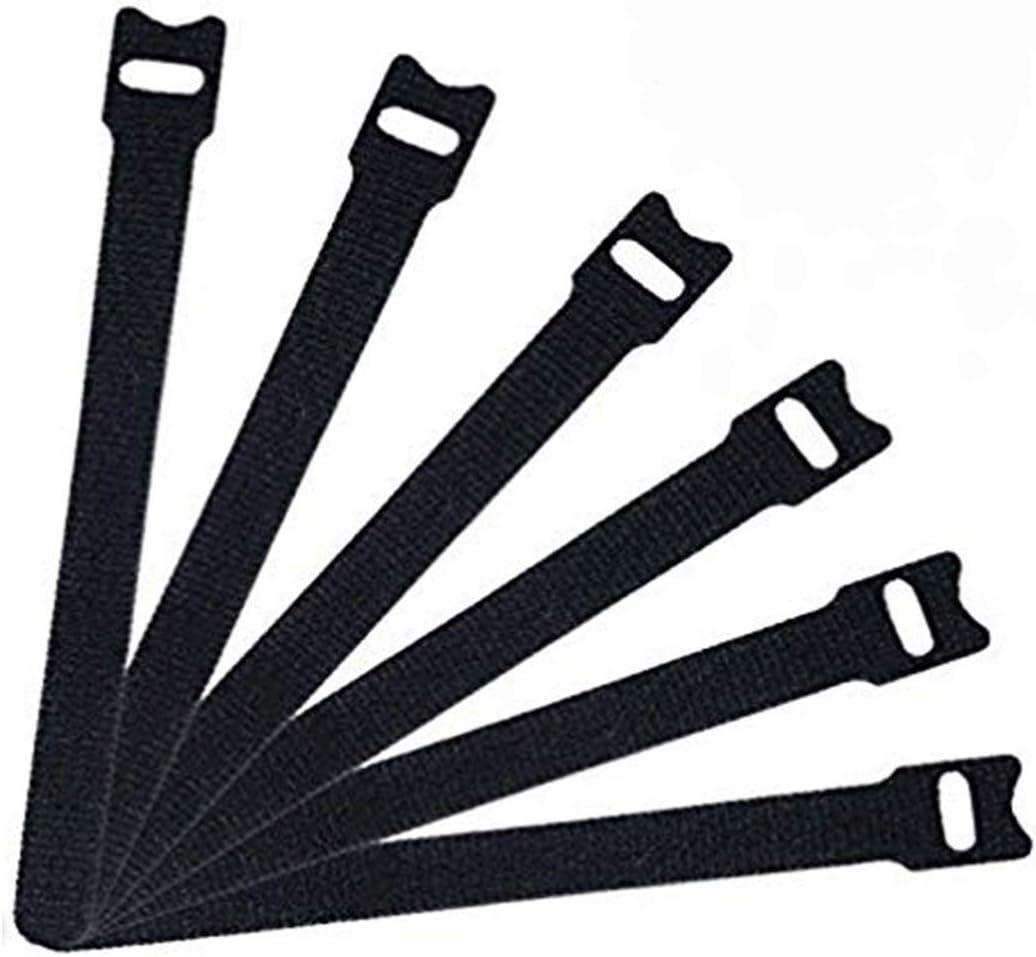 Klettband Kabelbinder /— Spezielles Design Klettverschluss Kabelbinder Schwarz 50 St/ück Kabel Klettband 6 Zoll Mikrofasertuch Kabelbinder mit Klettverschluss schwarz