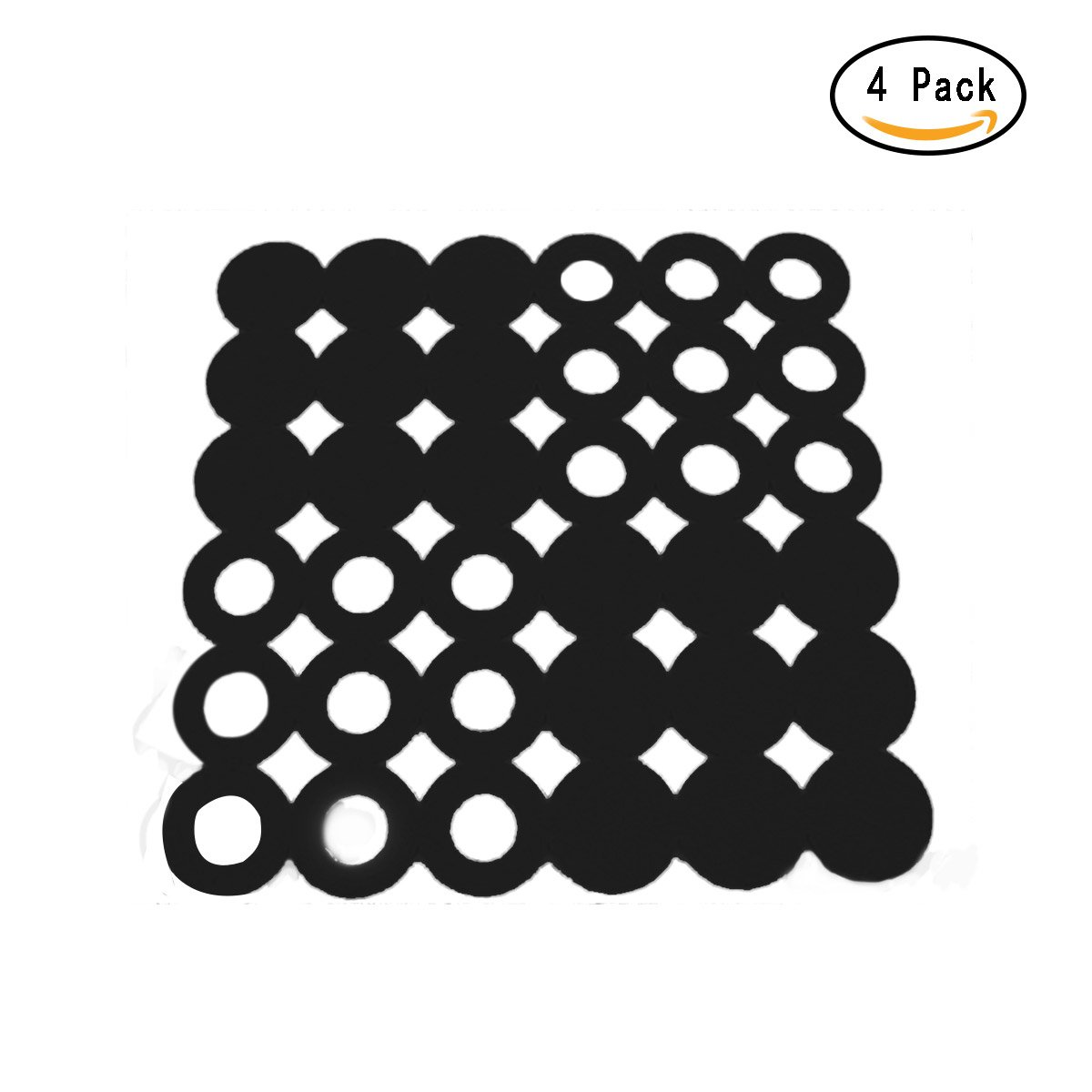 Jeteven Pack of 4 Non-Woven Felt Placemat Table Mat Heat Resistant Dining Table Kitchen Home Black