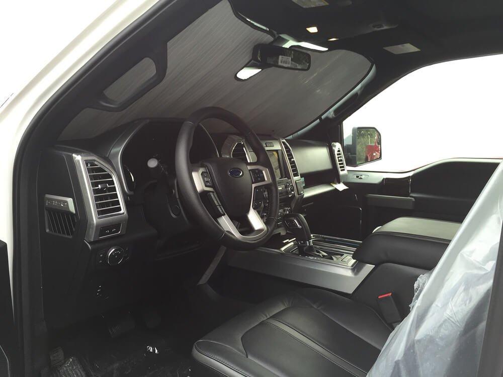 2017 2018 2019 Custom-Fit for Ford F-150 Truck Crew Cab w//Sensor 2015 HeatShield The Original Auto Sunshade 2016 Silver Series