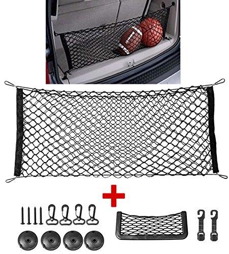 110cm 50cm Nylon Elastic Mesh Net Car hatchback Rear Luggage Cargo Trunk Storage Organizer