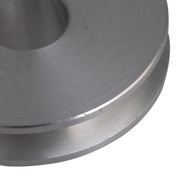 5/mm PU rond Ceinture BQLZR 41/x 16/x 12/mm Argent en alliage daluminium simple cannelure 12/mm fixe Al/ésage Poulie pour moteur Tige 3