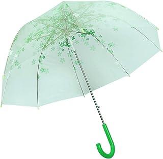Ombrello trasparente a forma di cupola a cupola trasparente per apertura automatica per tutte le stagioni (verde)