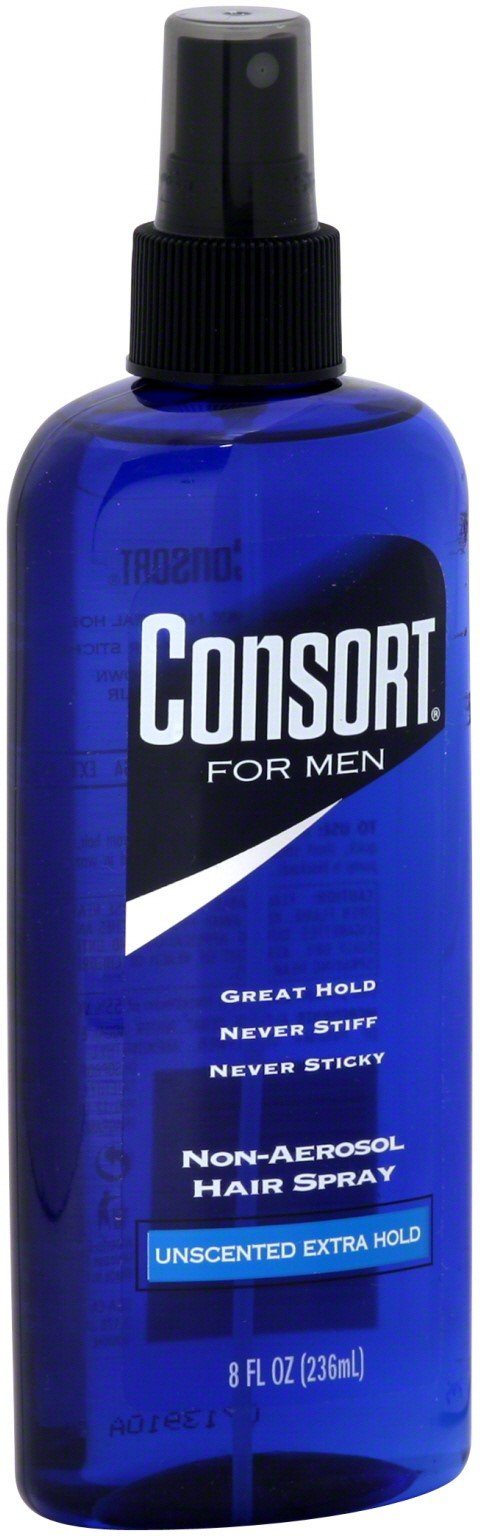 Consort for Men Unscented Extra Hold Non-aerosol Hair Spray 8 Oz( pack of 12)