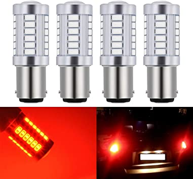 12V RED 54-LED Auto Motorcycle Tail//Brake 1157 BAY15D